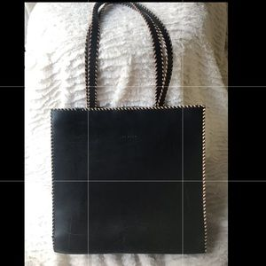 Levenger Black Leather Bag/Tote